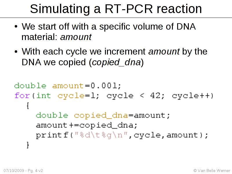 Simulating Realtime PCR